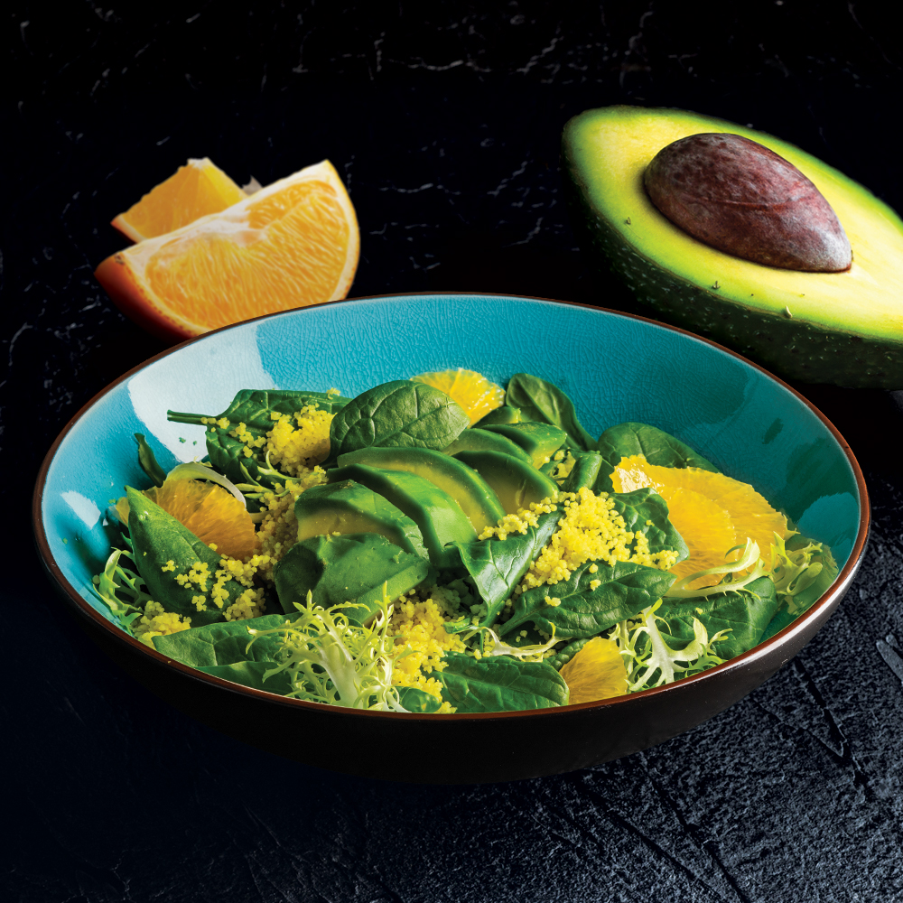 Салат с кускусом и апельсином