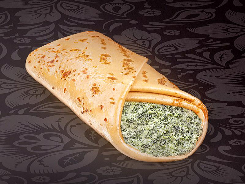 Блинчик сырно-шпинатный