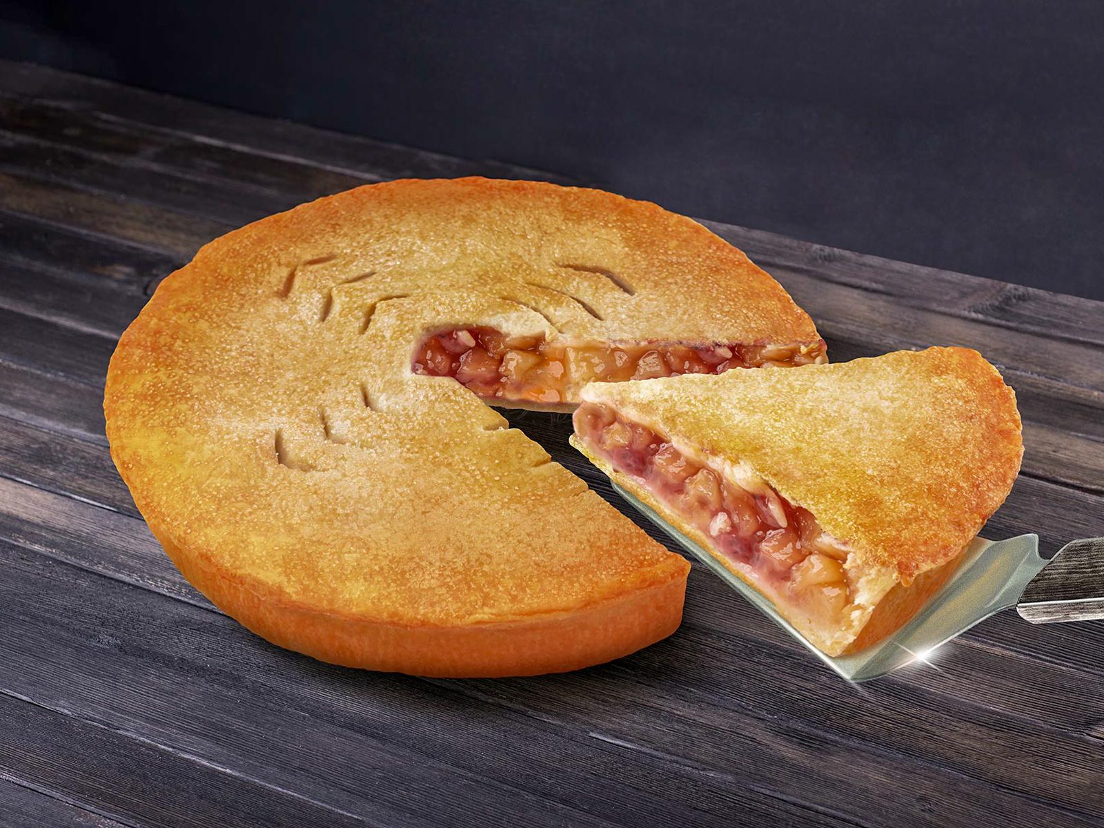 Пирог с яблоком и клюквой