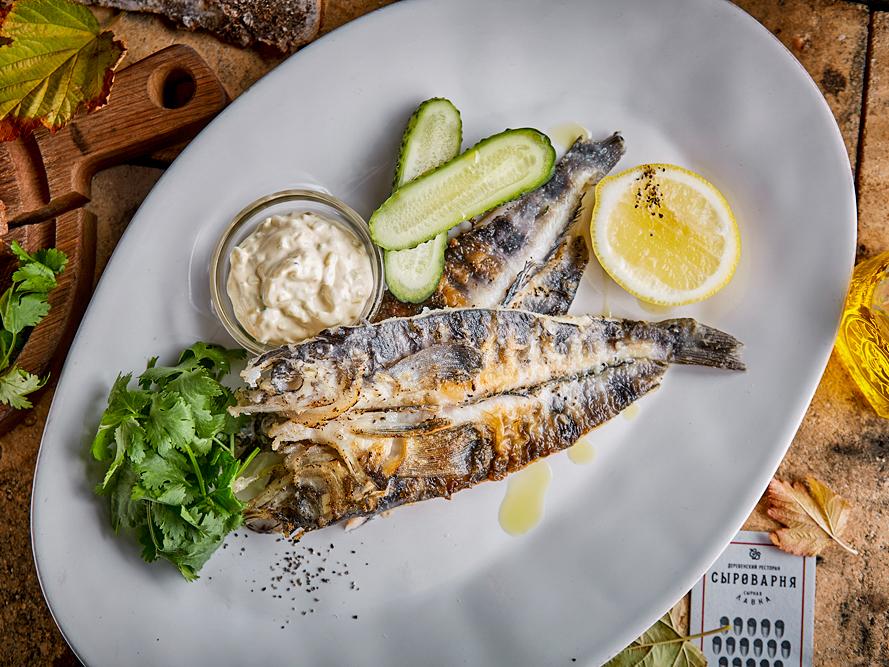 Ледяная рыба с соусом тар-тар