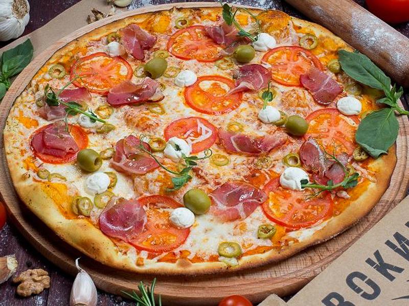 Пицца Италия на толстом тесте