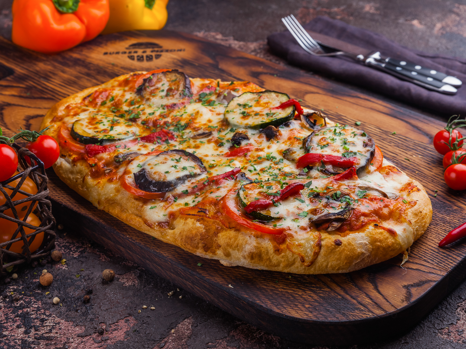 Пиццони Овощи и грибы