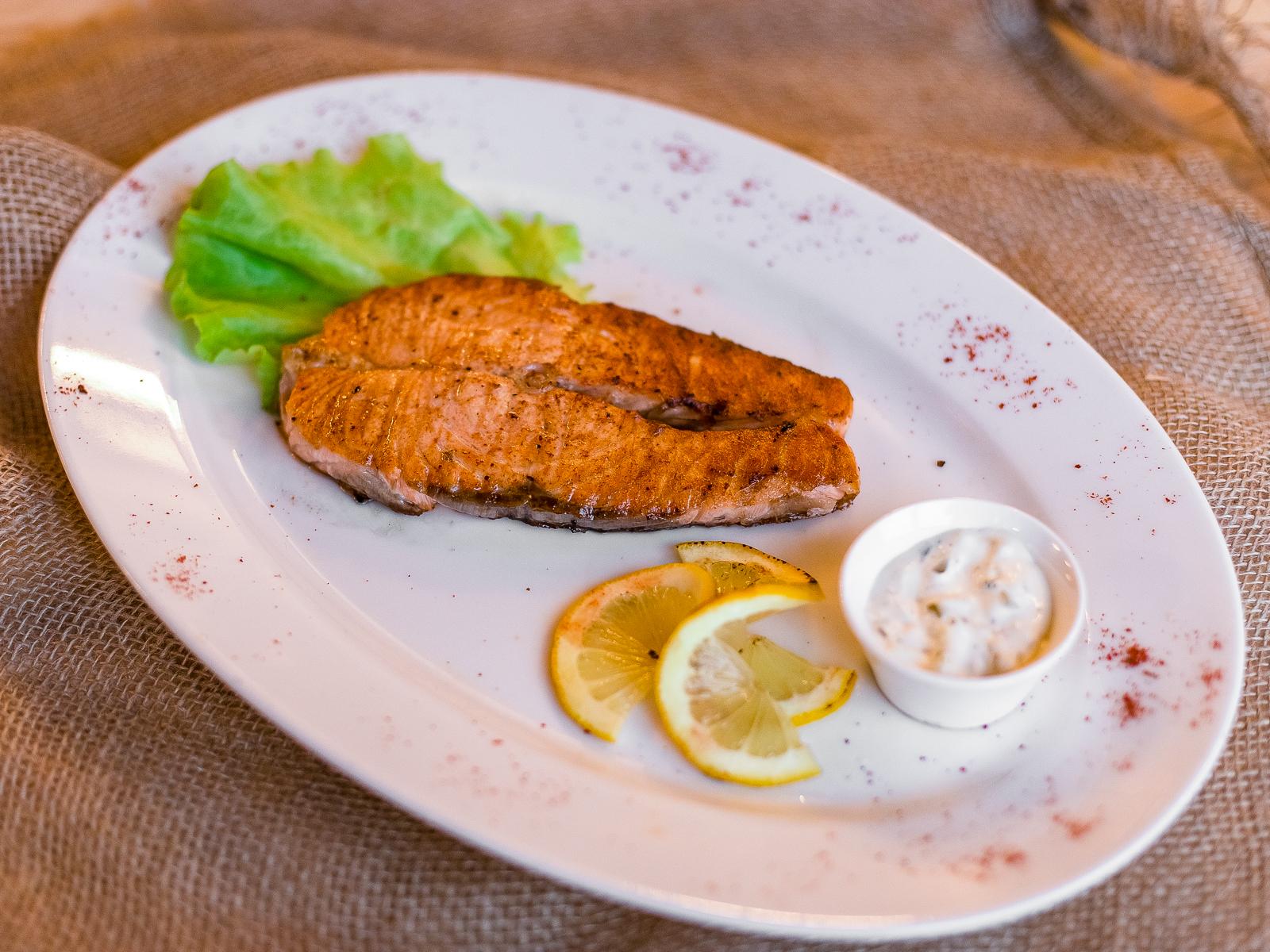 Шашлык из филе лосося
