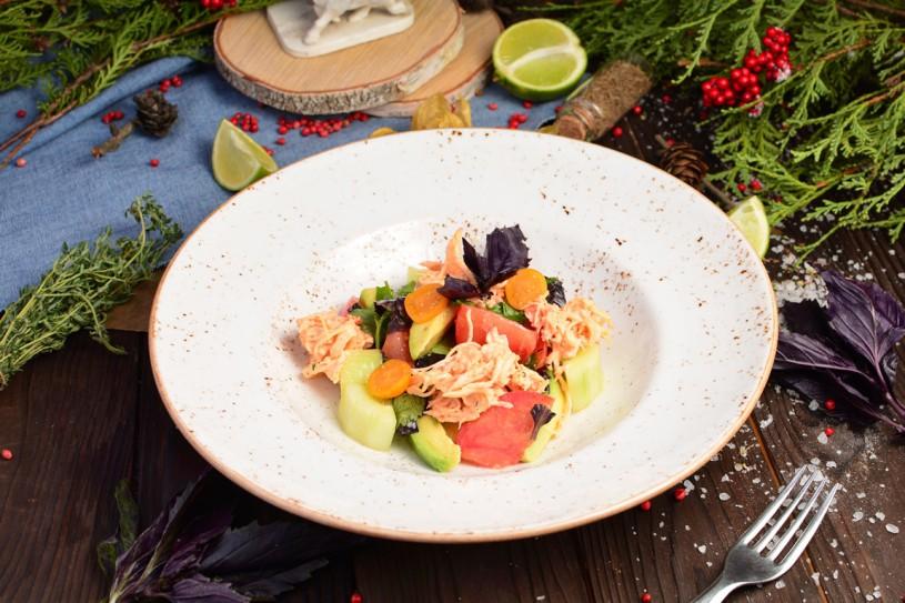 Салат с острым крабом