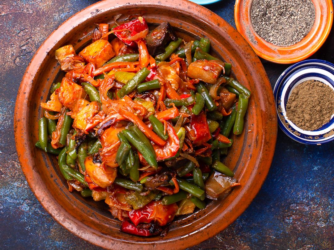 Овощи по мароккански