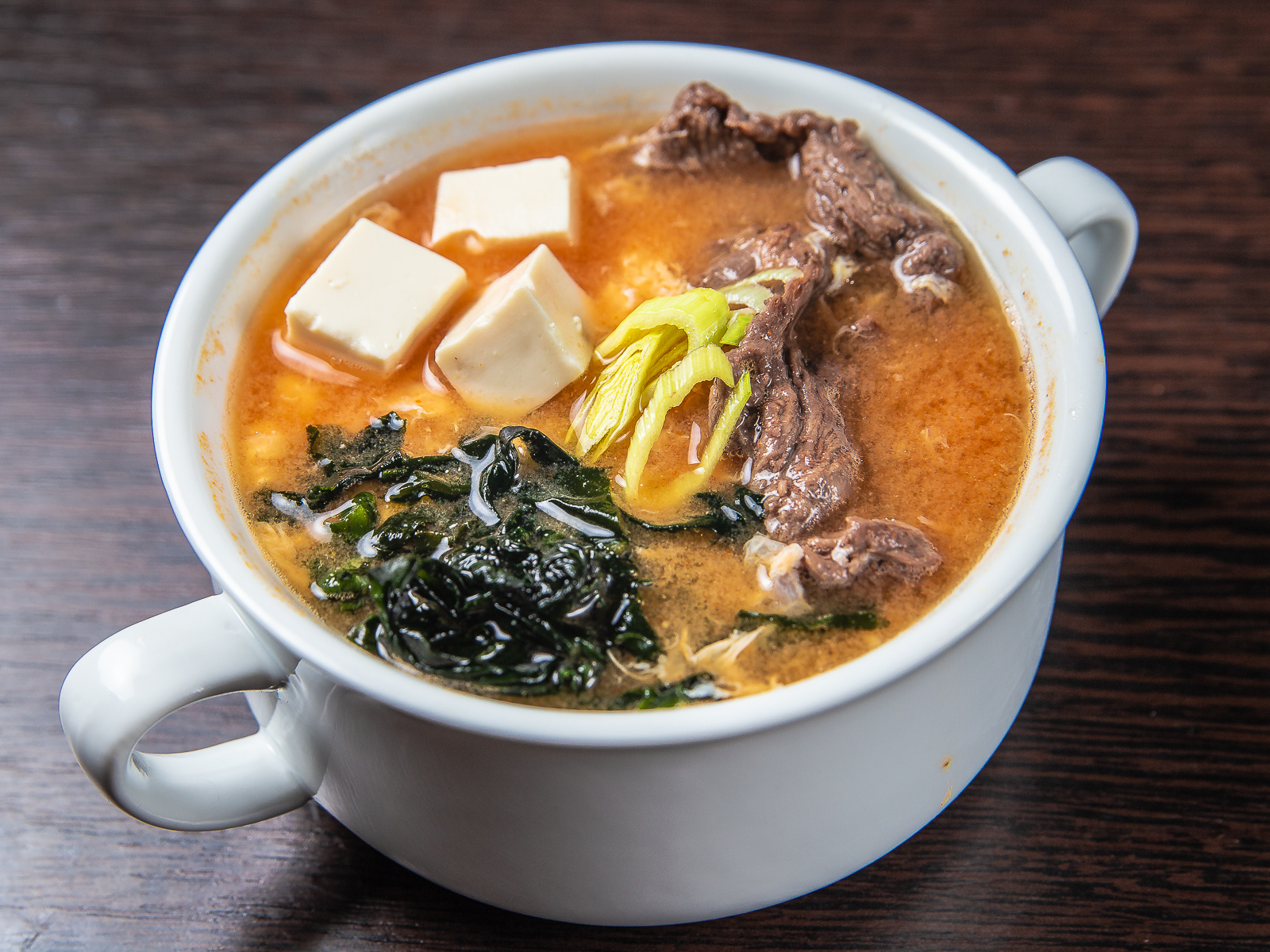 Острый суп с говядиной