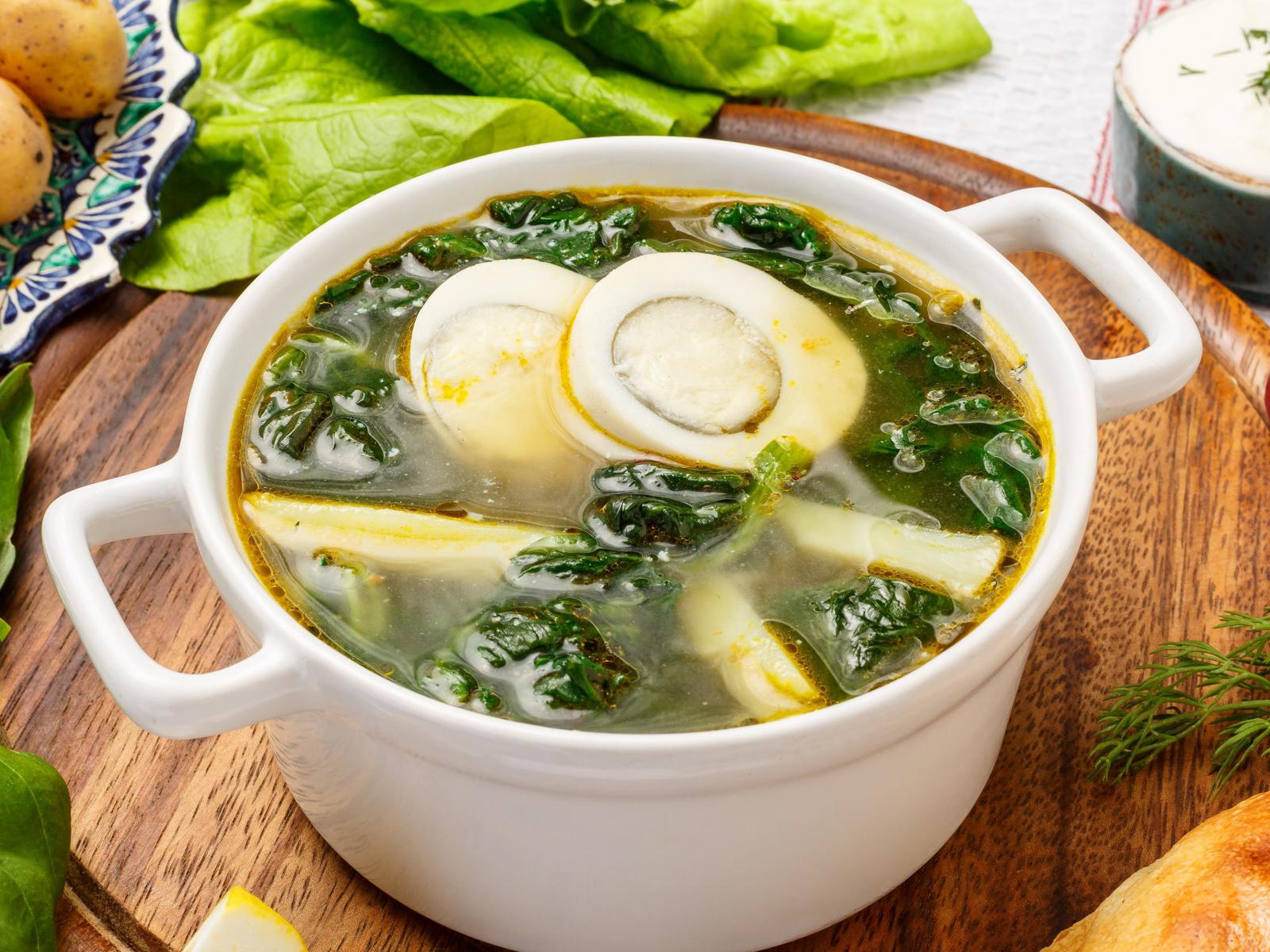 Суп Легкий с щавелем и яйцом