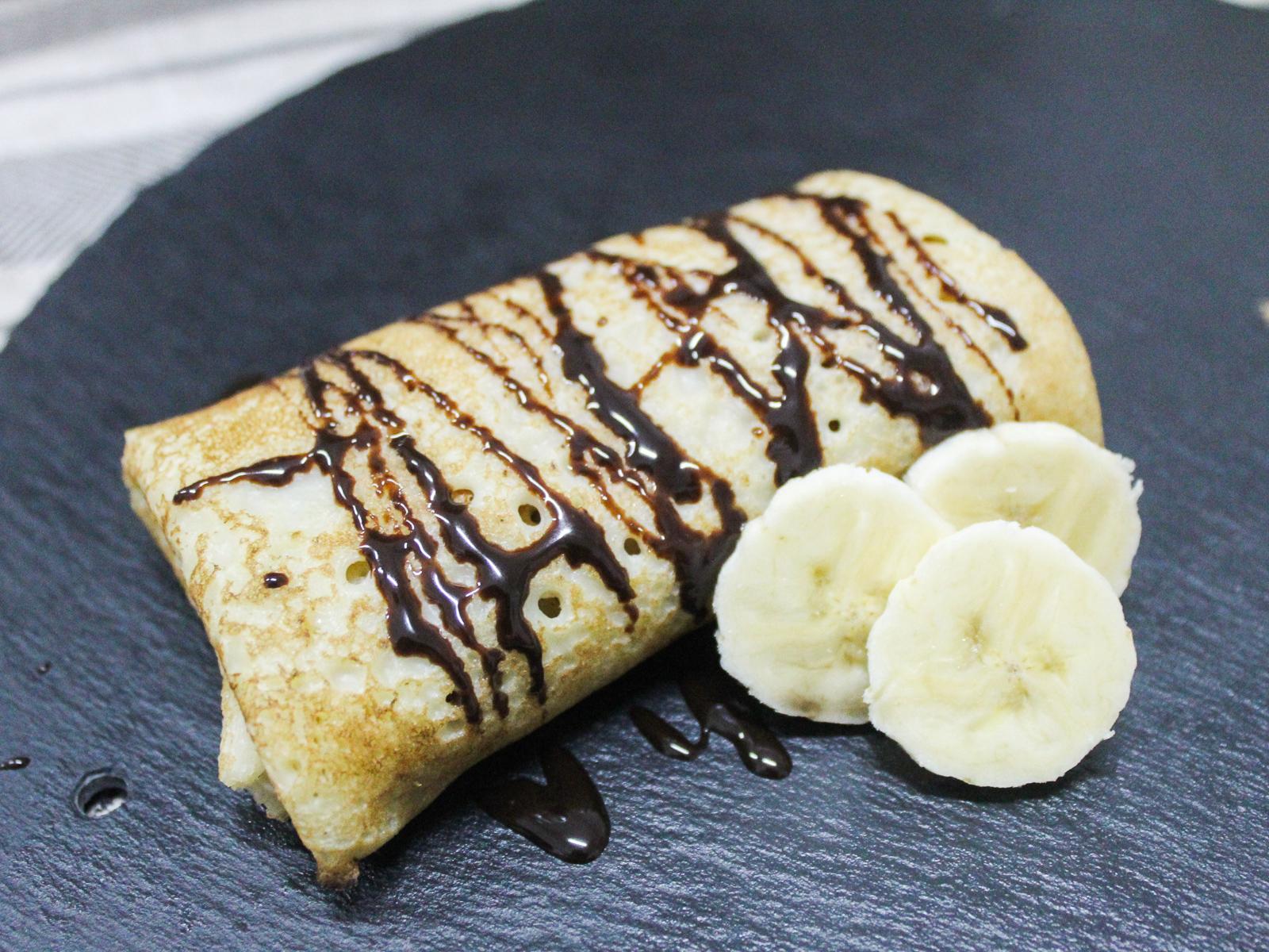 Блин с бананом и шоколадом