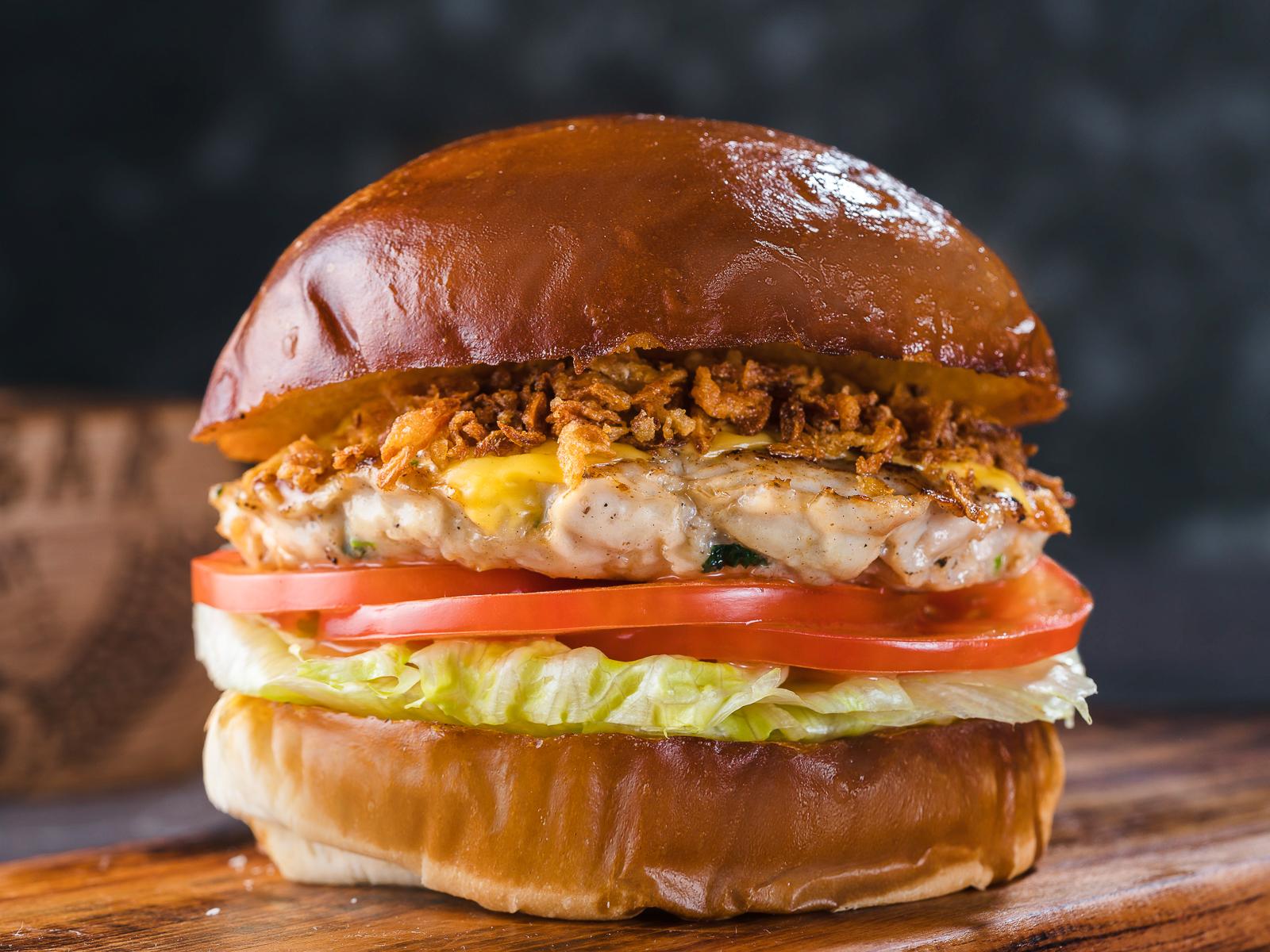 Бургер с рубленым цыпленком