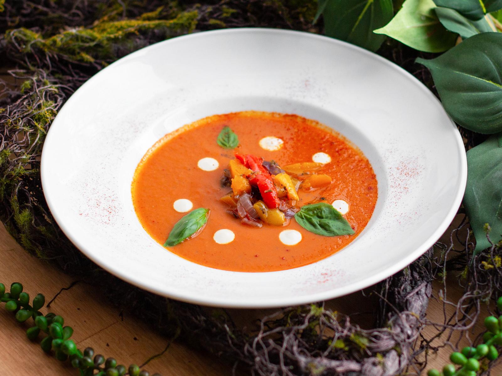 Суп с вялеными томатами