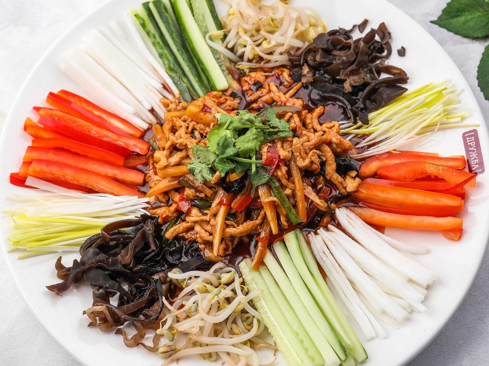 Свинина по-пекински с овощами