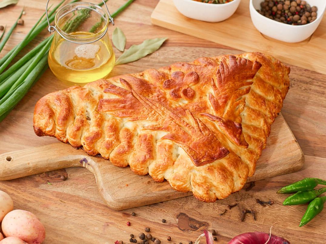 Пирог Курица-картофель