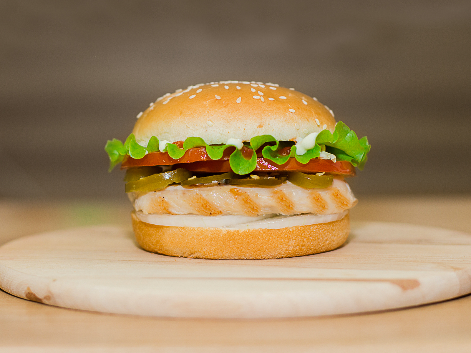 Чили бургер куриный