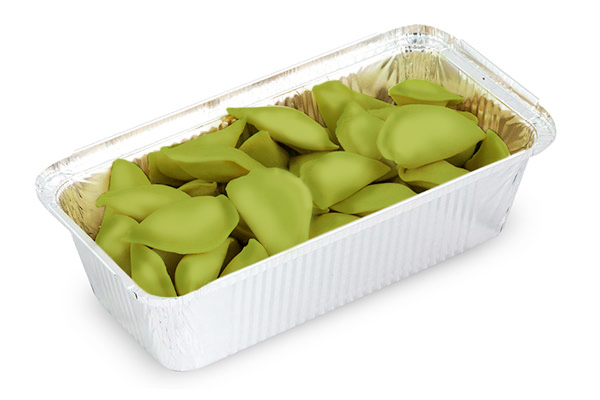 Замороженные вареники со шпинатом