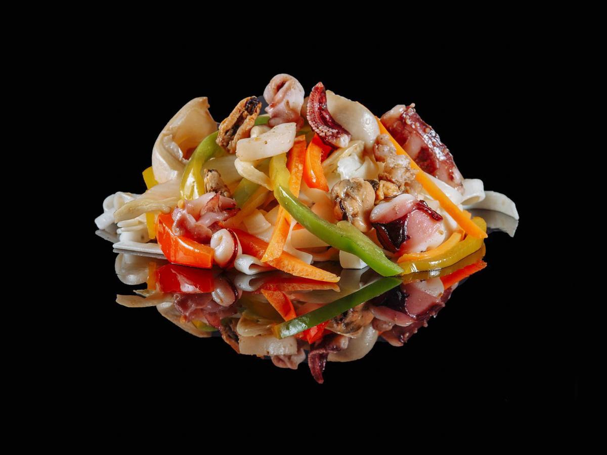 Вок Яки удон с морепродуктами
