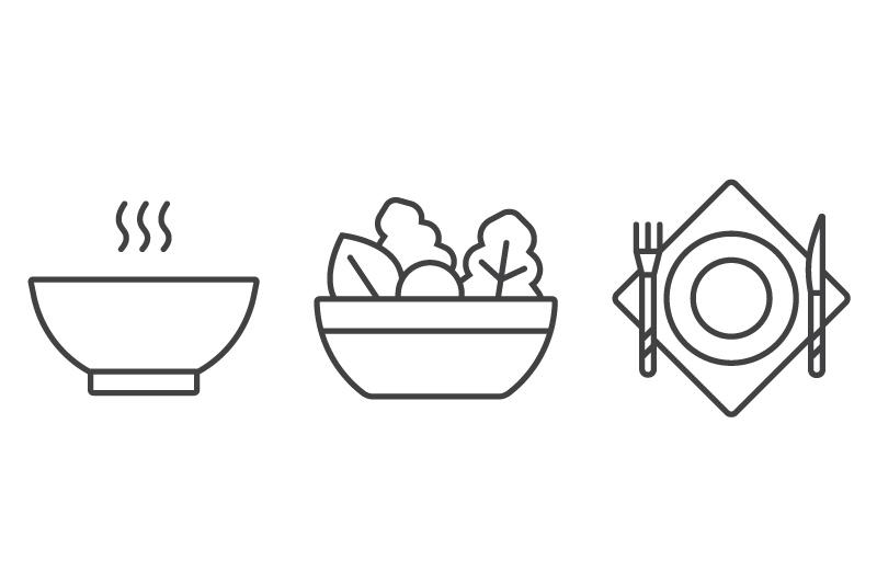 Калипсо с кальмарами, Биф Чозиро слайдерс, Куриный суп