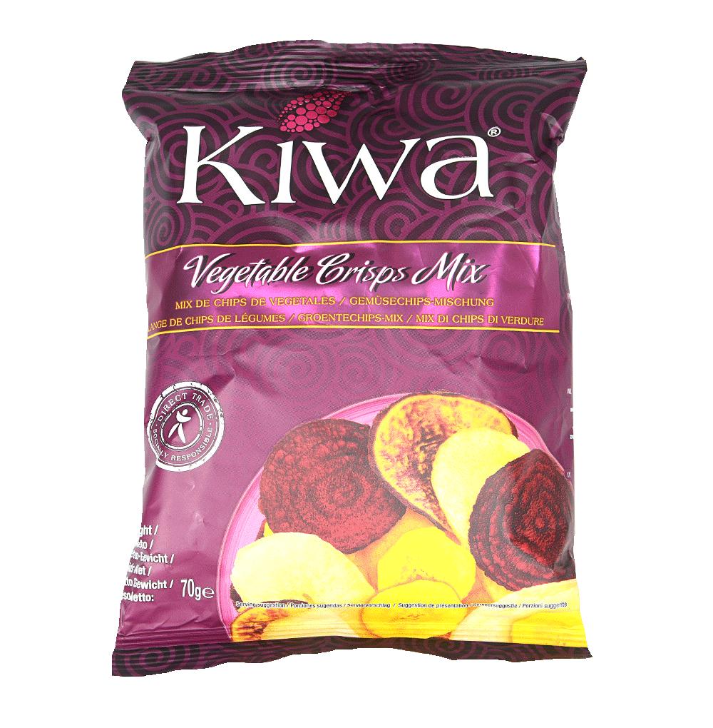 Чипсы Kiwa из овощей слабосоленые