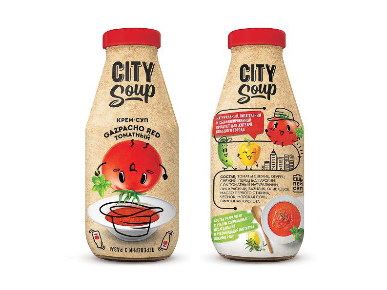 Холодный суп в бутылке