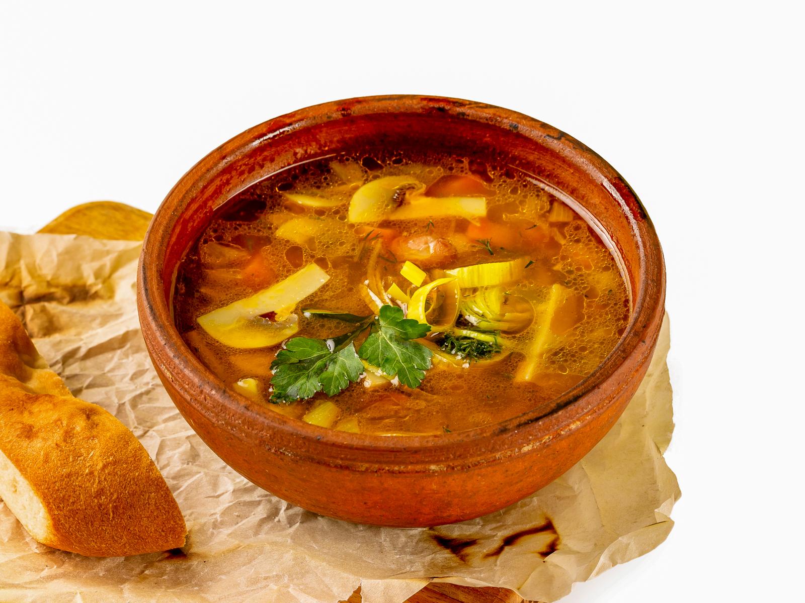Суп Похлебка грибная с фасолью