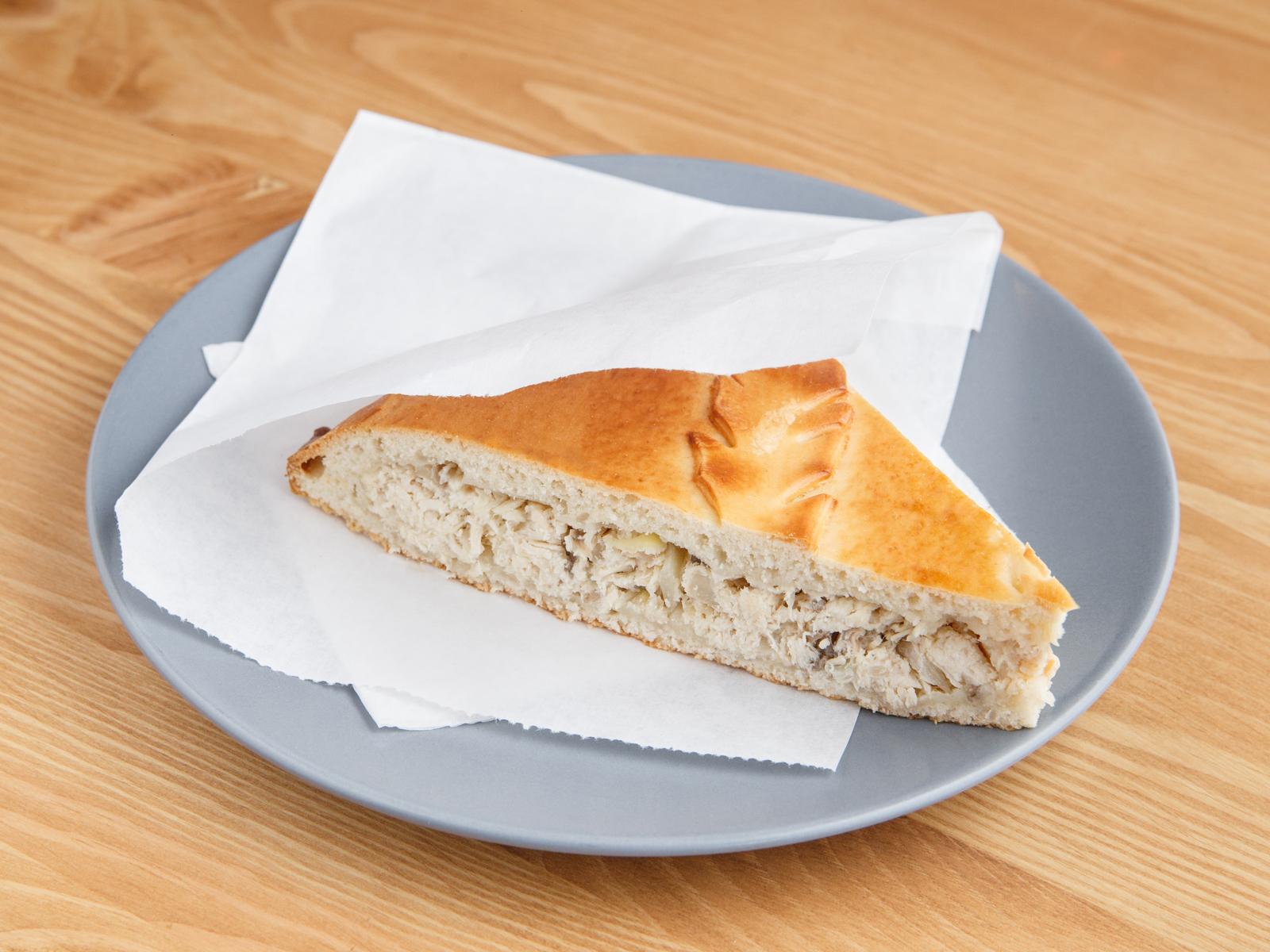Пирог с курой и грибами