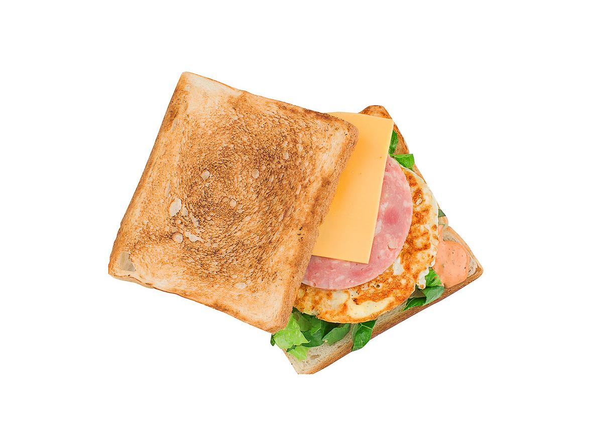 Тост с ветчиной и сыром
