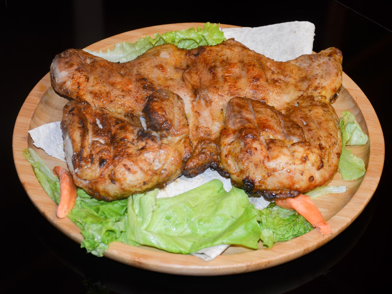 Курица гриль на углях