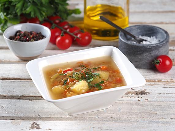 Суп картофельный с чечевицей (Воскресение)