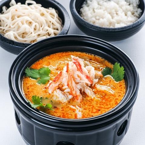 Гинкан с крабом(с рисом или лапшой)