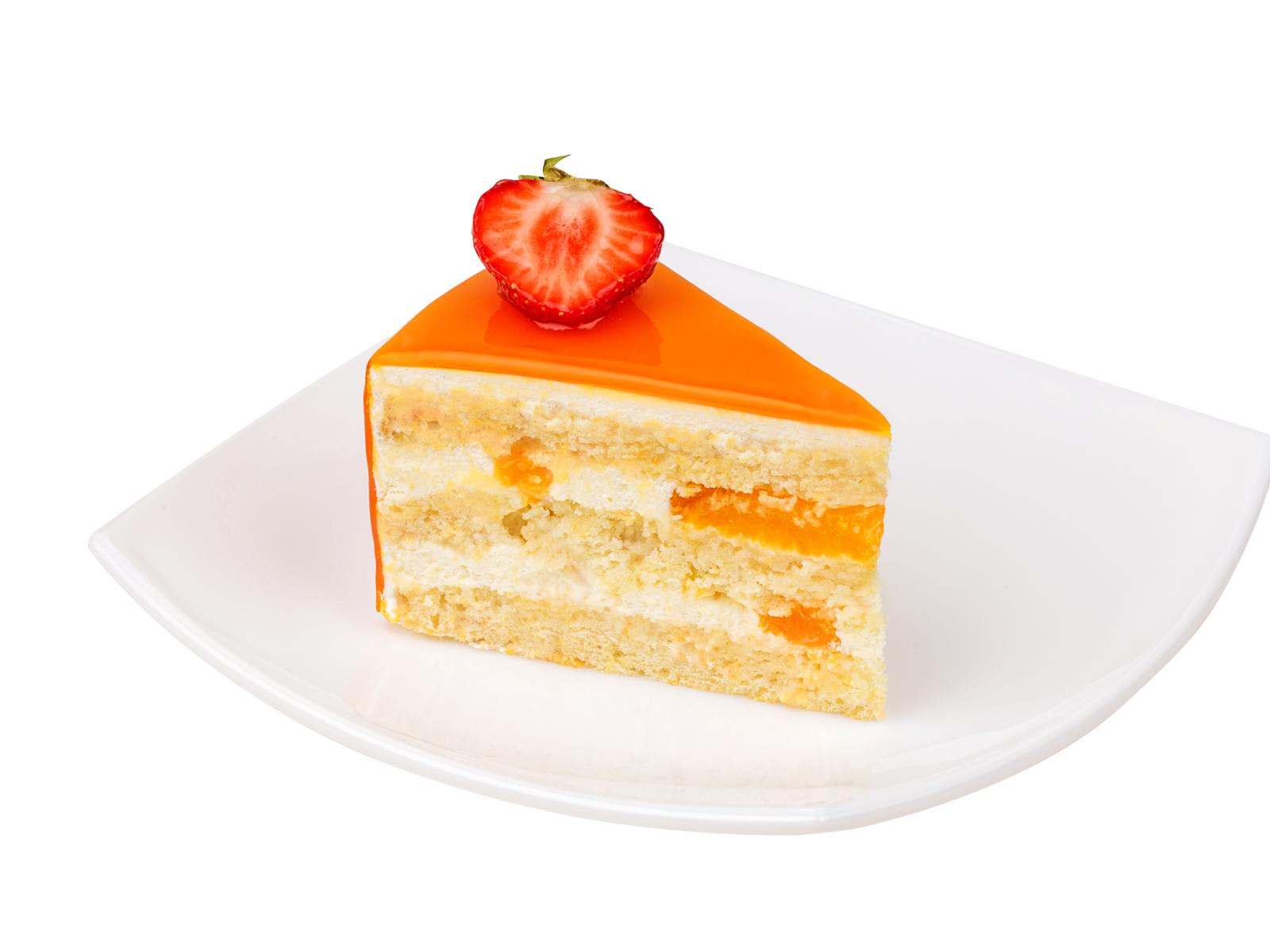 Порция торта Апельсин с белым шоколадом