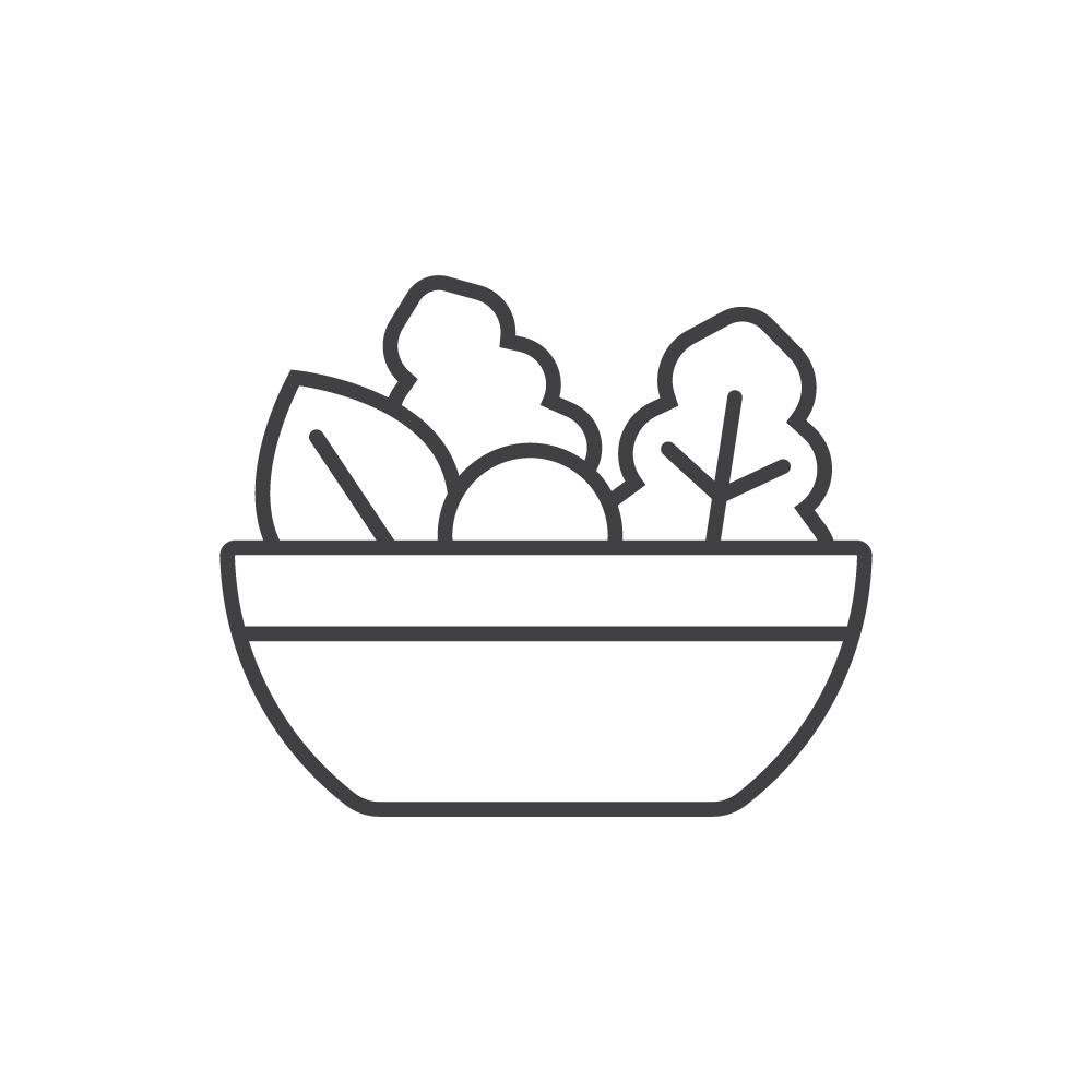 Салат с курицей, фасолью и гренками Ланч