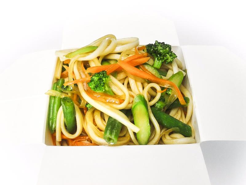 Вок пшеничная лапша с овощами