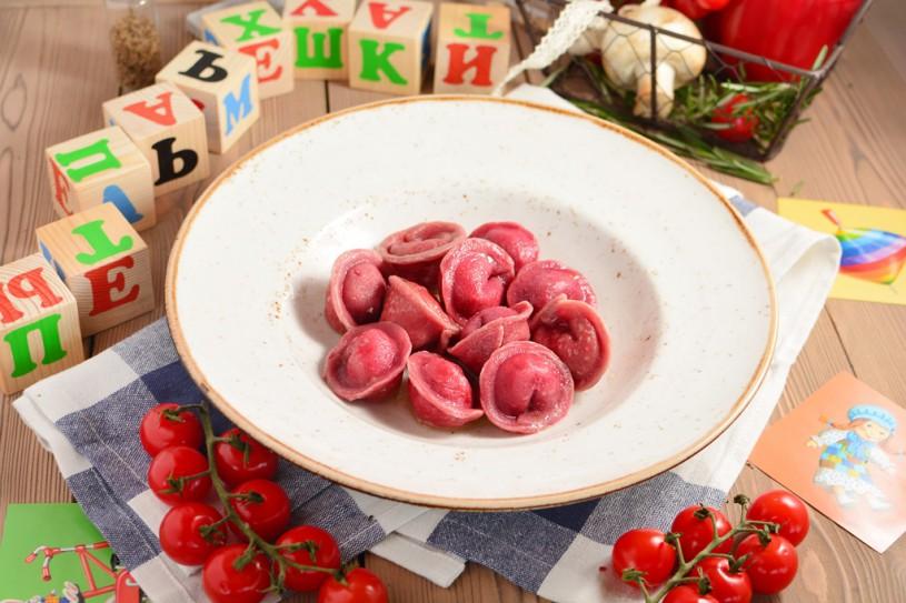 Розовые пельмешки