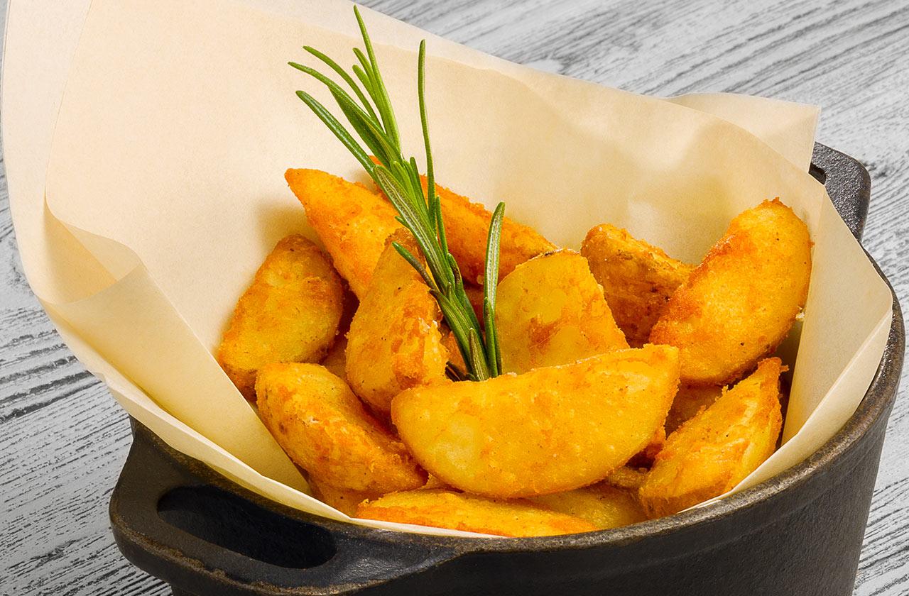 Картофельные дольки по-средиземноморски