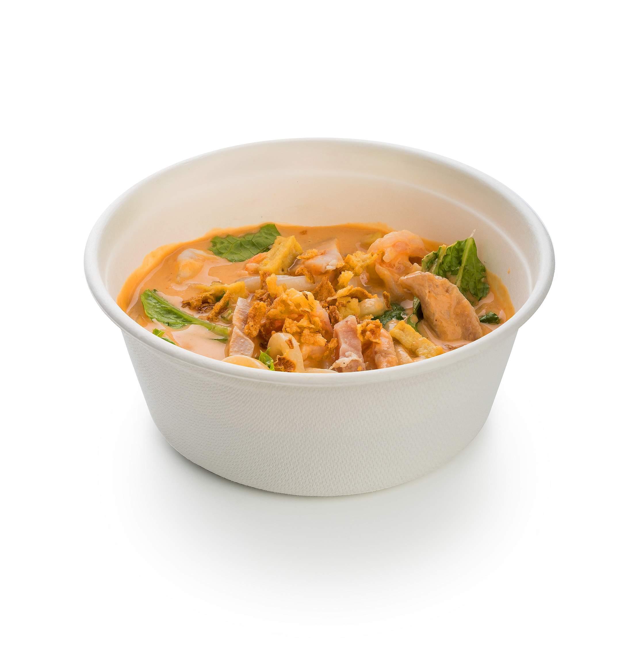 Суп Лакса с креветками