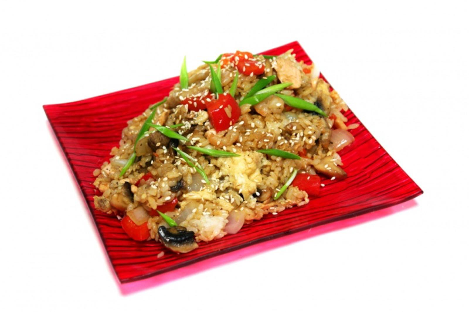 Рис Тепаньяки с морепродуктами