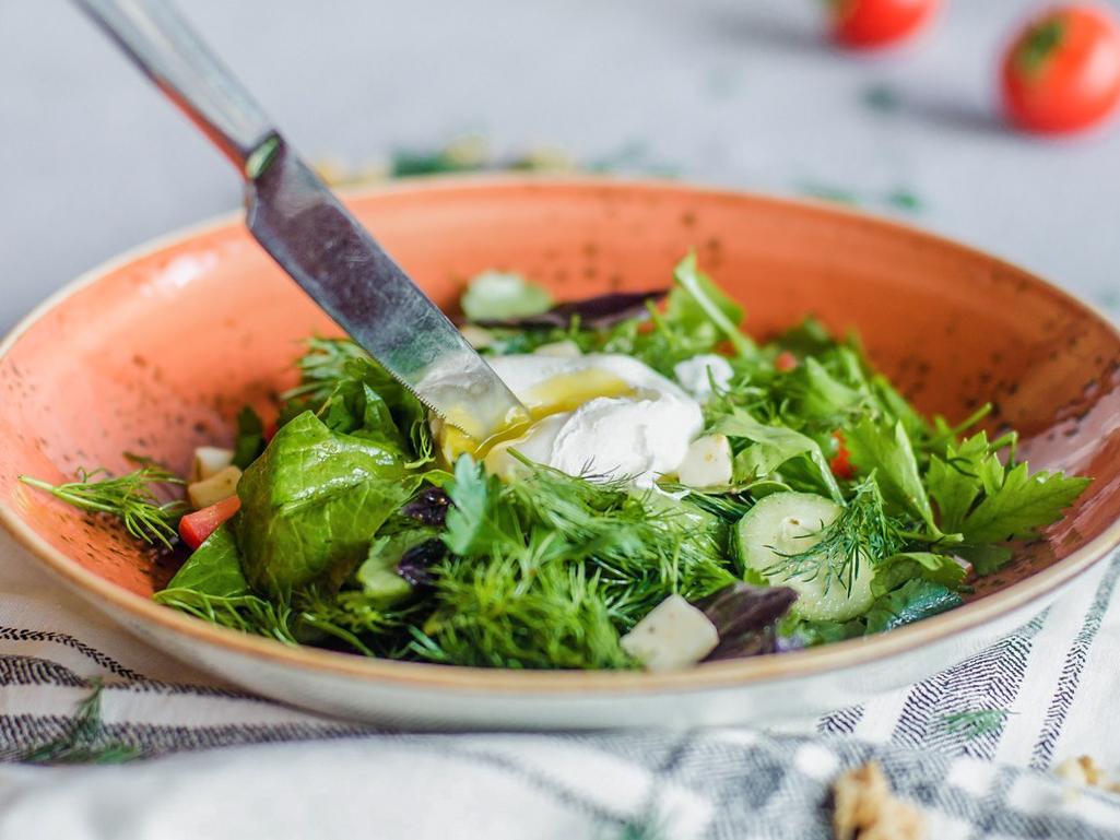 Салат с бакинскими овощами