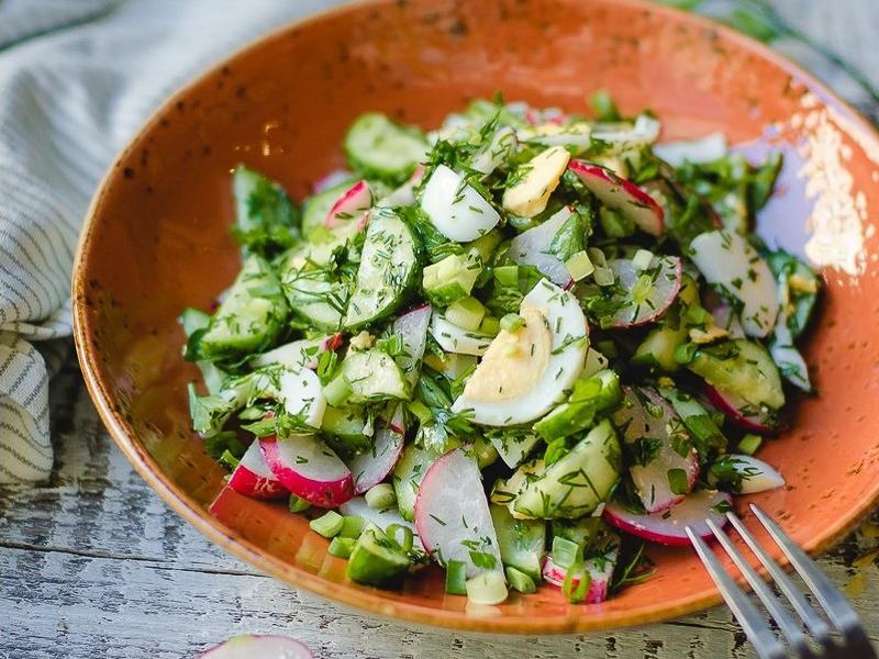 Салат Овощной с грядки
