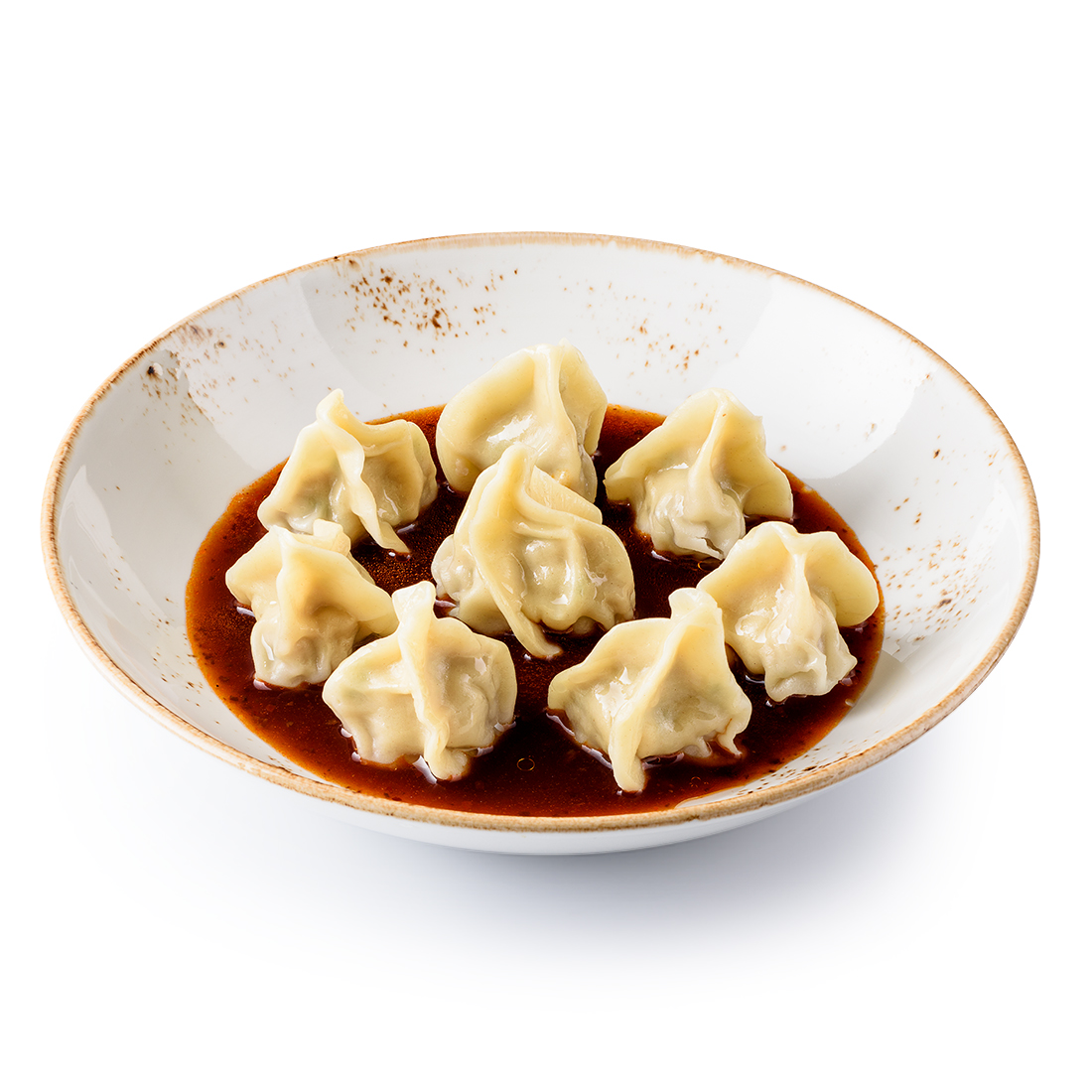 Вонтоны со свининой в китайском соусе (8 шт)