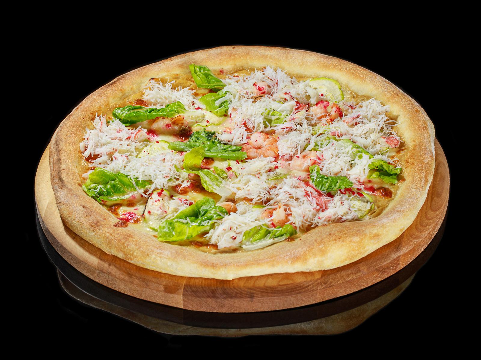 Пицца с камчатским крабом