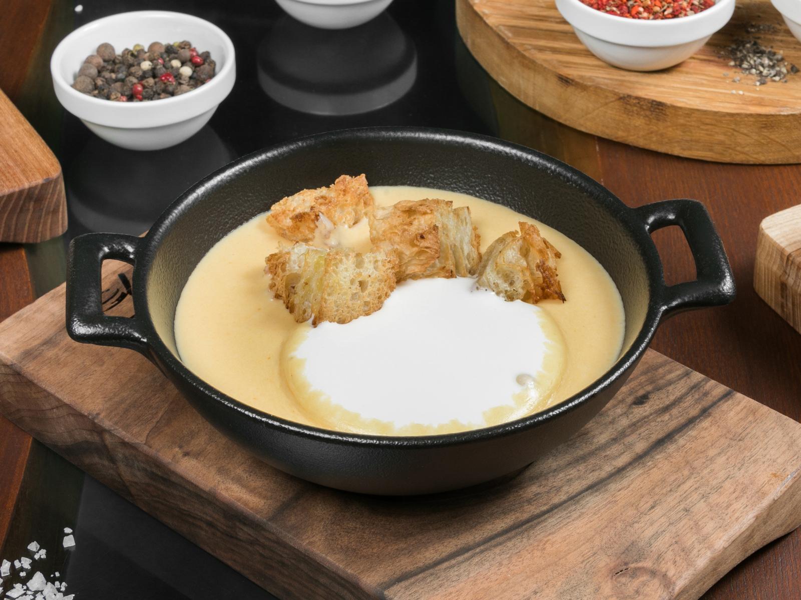 Сырный крем суп капучино