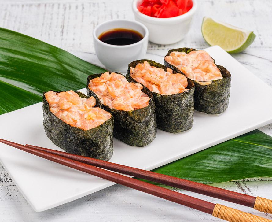 Суши острые с креветкой (4 шт.)