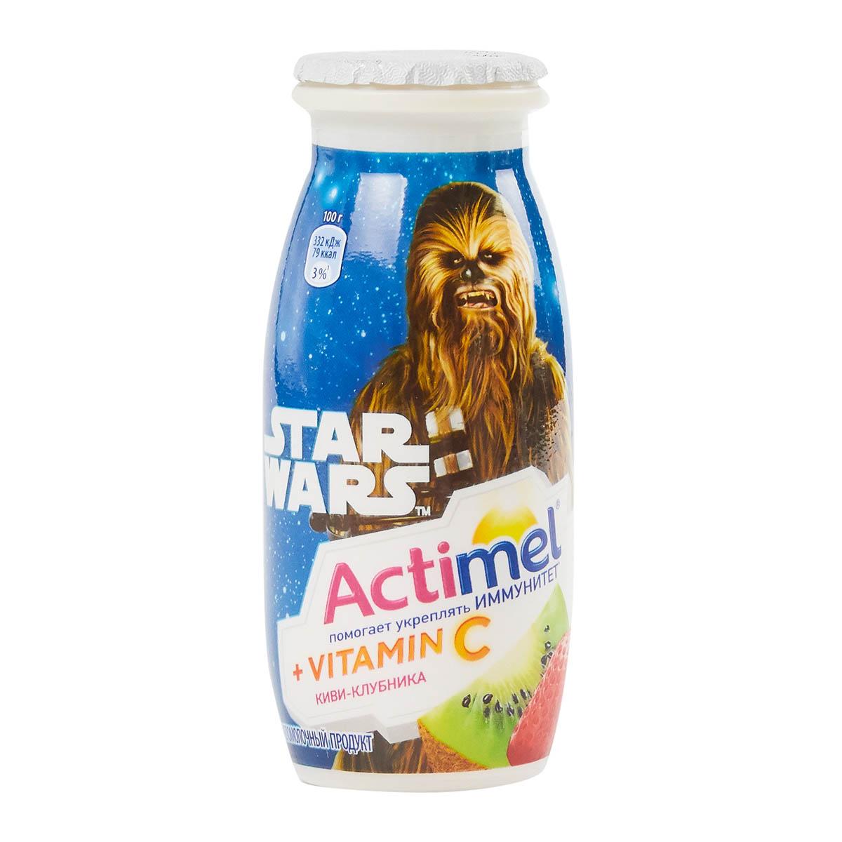 Actimel 2,5% киви-клубника