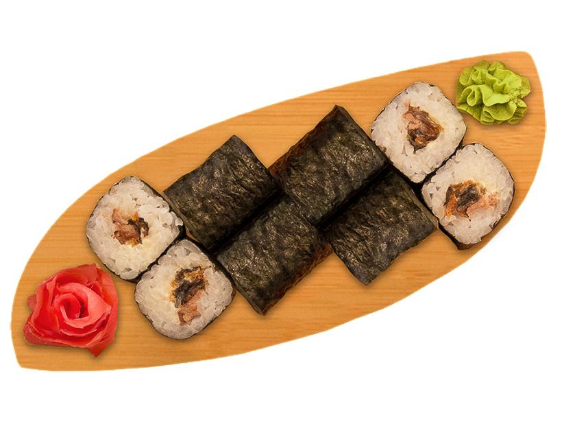 Ролл с жареным лососем