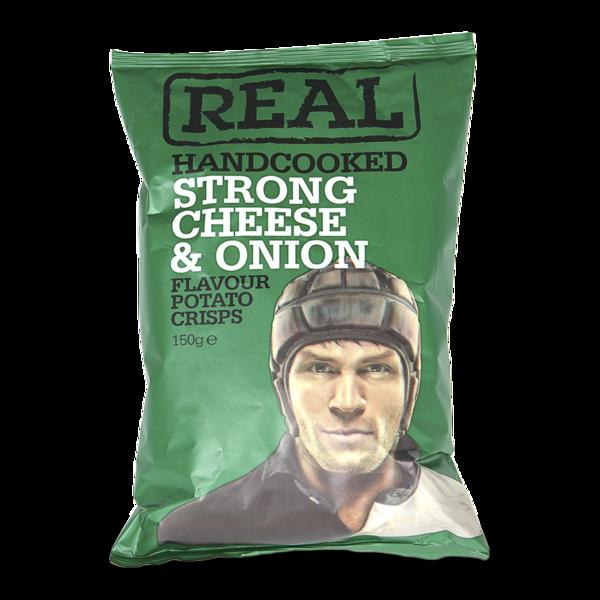 Чипсы картофельные Real с сыром и луком Real Crisps Limited