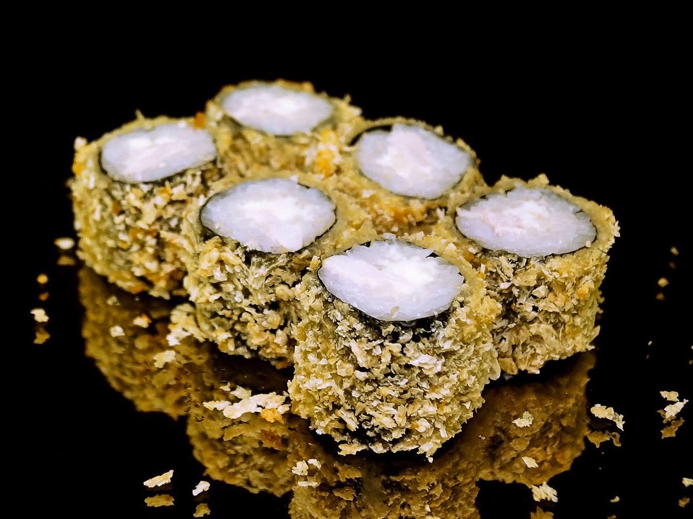 Ролл со сливочным сыром в темпуре