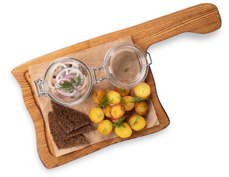 Атлантическая сельдь с картофелем