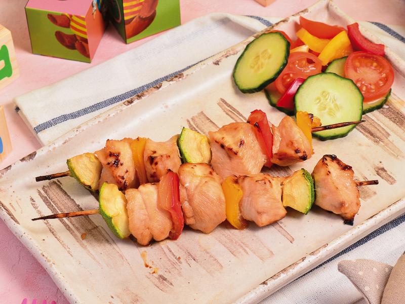 Шашлычок куриный с овощами