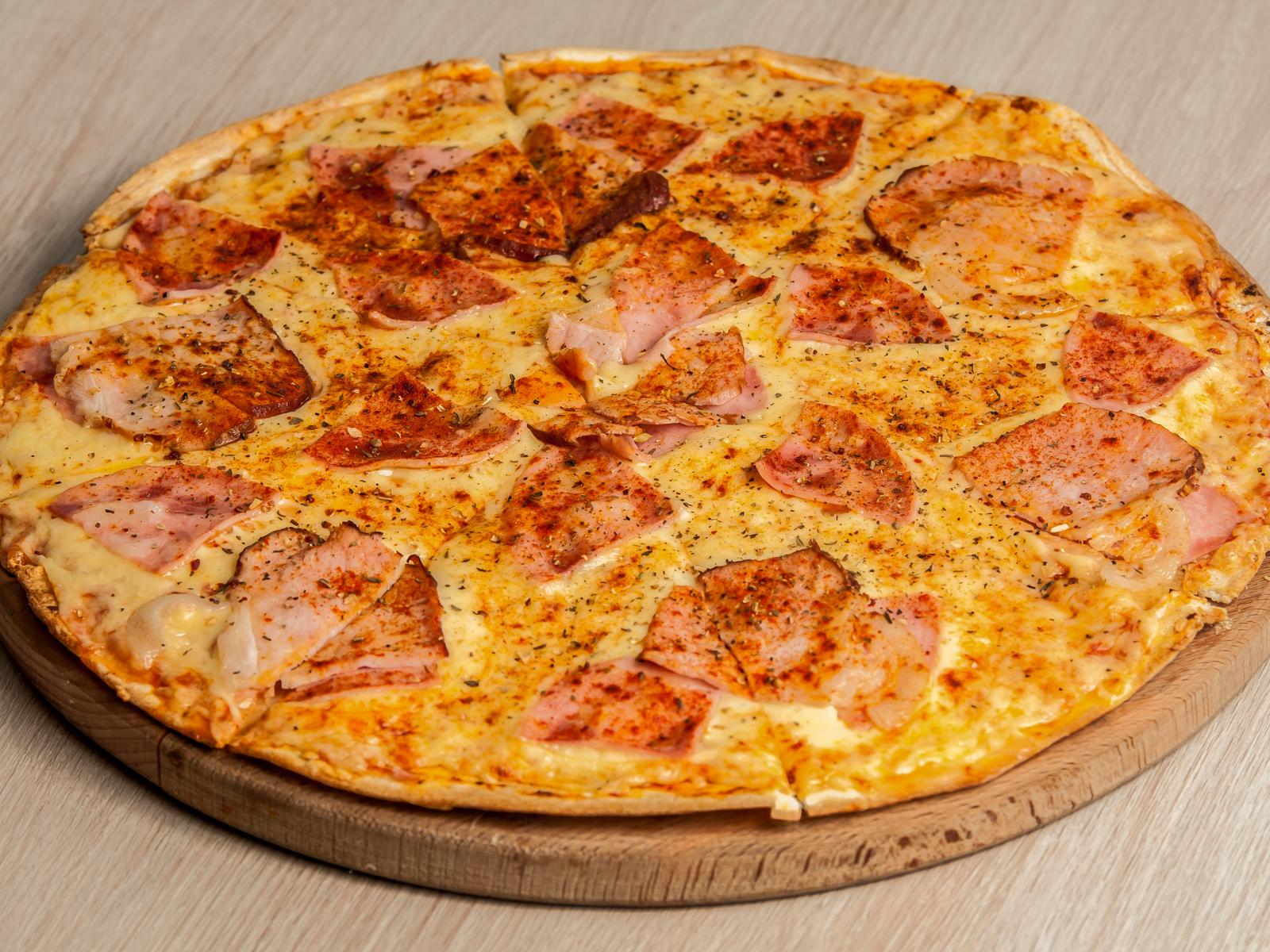 Пицца Барбекю на тонком тесте