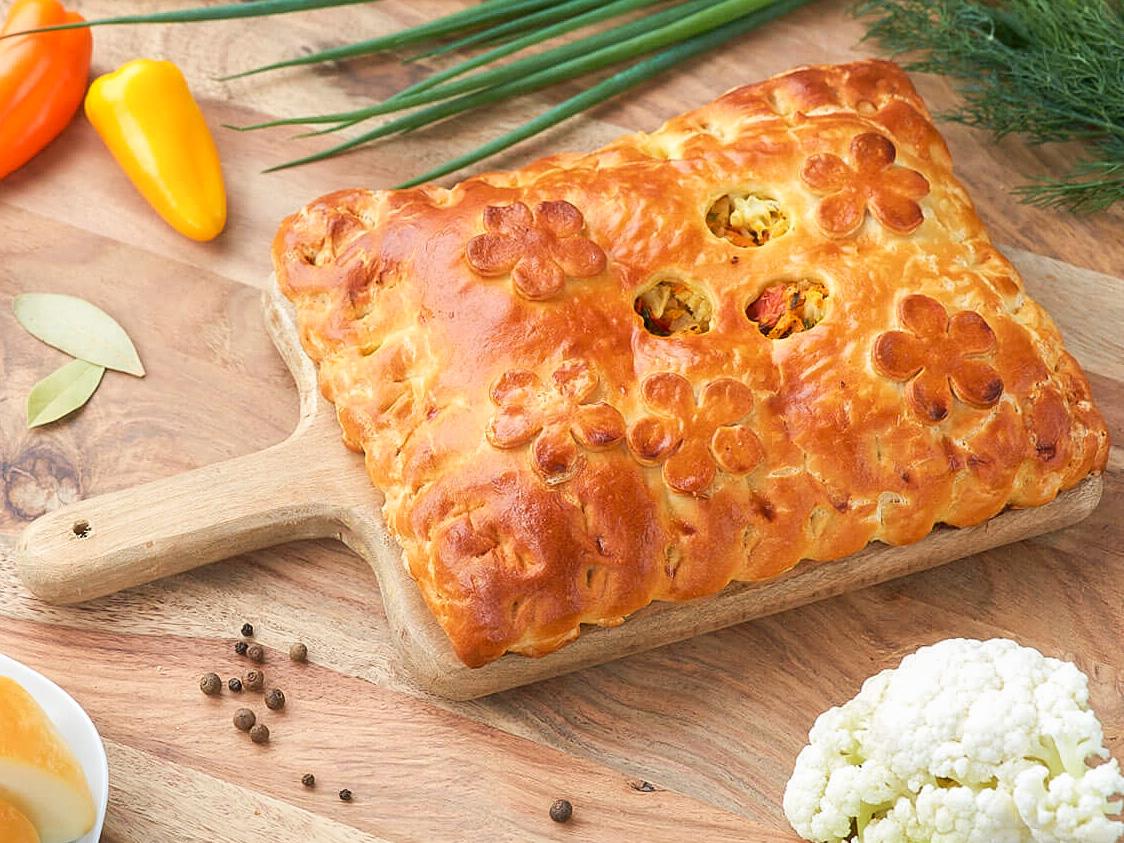 Пирог Овощи и нежный сыр