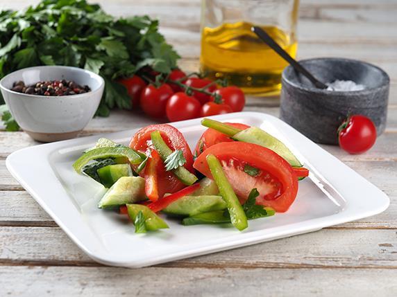 Салат овощной/заправка оригинальная/масло подсолнечное/майонез